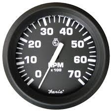 outboard tachometer amazon com faria 32805 euro 7000 rpm tachometer