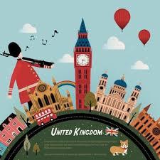 Reino unido detecta una mutación preocupante de la variante local. Precioso Diseno De Cartel De Viaje De Reino Unido Con Paisaje Callejero Vector Premium
