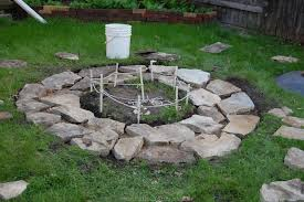 in ground stone fire pit impressive diy in ground fire pit fire pit ideas in ground