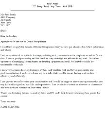 Cover Letter Examples For A Dental Receptionist Job Professional