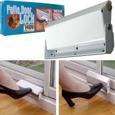 sliding patio door lock foot control easy install