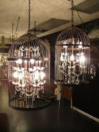 twin birdcage chandelier