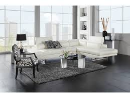 White Leather Living Room Furniture Madrid White 2 Pc Sectional Value City Furniture Lobby