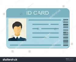 Identification Template Id Card Isolated On White Background Stock Vector Royalty Free