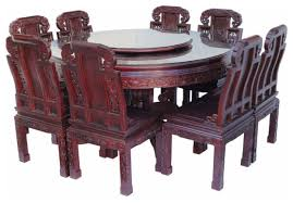 8 chinese rose wood flower carving round dining table most expensive dining tables