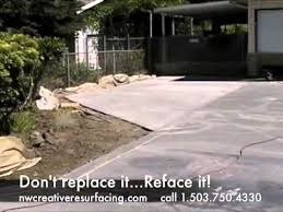 how to resurface a driveway. Interesting How Concrete Driveway Resurfacing To How Resurface A I