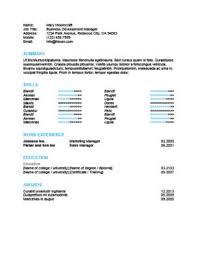 Ats Friendly Resume Templates Format 27 Samples