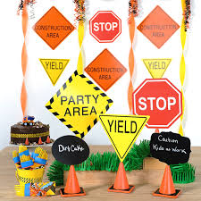 Street Sign Party Decorations Construction Pals Birthday Party Birthday Express 2
