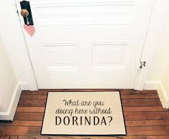 What are you doing here without DORINDA Door mat Area Rug //
