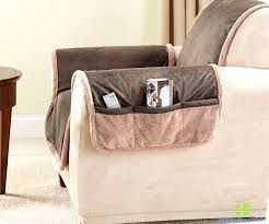recliner slipcover with pocket brown faux leather cover furniture protector