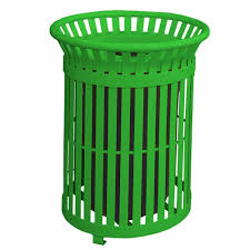 commercial outdoor trash cans. Light Green Steel Outdoor Trash Can With Lid Commercial Cans A
