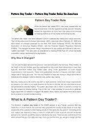 Pattern Day Trader Interesting Inspiration Design