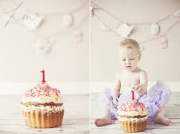 Jessies 1st Birthday Smash Cake Newcastle Baby Photographer
