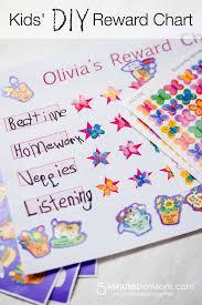 How To Make A Sticker Chart Diy Kids Rewards Chart