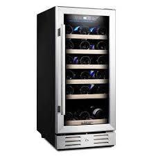 built in 30 bottle single zone wine cooler compressor