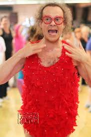richard simmons costume. update 6:03 pm est: it appears richard has finally been released from the hospital. photos seem to show louisiana native rocking a beard while leaving simmons costume