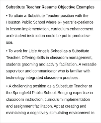 Objectives For Teaching Resumes Resume Bank