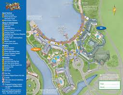 disney's boardwalk resort map  wdwinfocom
