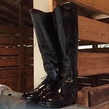 Devon Aire Black Field Boots 12w