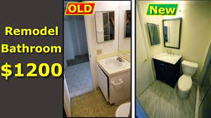 remodel a small bathroom yourself