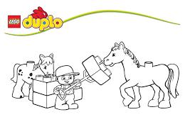 Belle Coloriage Lego Friends Cheval