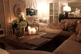 home mood lighting. mood lighting in living room with candles lamps and comfortable couch home
