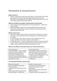 as politics revision guide unit