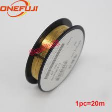0.08mm Dia Golden Tungsten Electrode Wire Corona Wire 20 ...