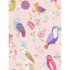 Newcastle United Bedroom Wallpaper Rasch Birds Wallpaper Pink 293012 Owl Feature