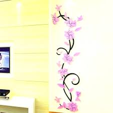 gold wall stickers nz rose circle decal decals elegant golden flower mural wa