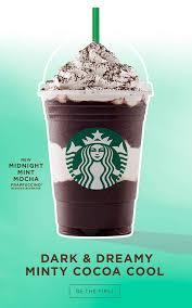 starbucks frappuccino flavors. Modren Flavors Midnight Mint Mocha And Smores Frappuccino And Starbucks Flavors