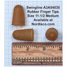 Rubber Finger Tip Size Chart Swingline 54035 Rubber Finger Tips Size 11 1 2 Medium Box