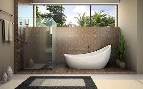 bathroom design ideas freestanding bath tub in mosaic bathroom
