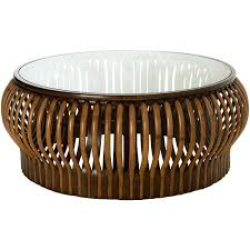 rattan coffee table honey comb rattan coffee table with glass top diameter inches small round rattan
