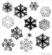 Snowflake Designs Illustration