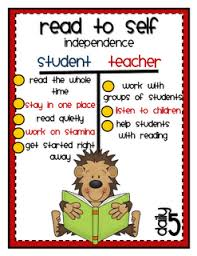 Anchor Charts For Read To Self Daily 5 Reading Read To