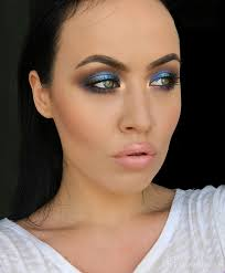 s blue smoky eye makeup tutorial