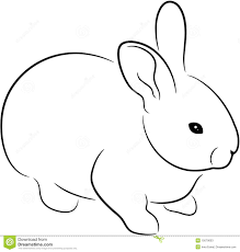 outline of bunny rabbit stock vector illustration of fuzzy illustration 15079003