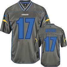 Philip Color Chargers Royal Jersey Rivers 17 Rush Legend