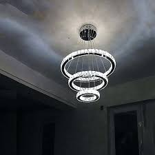modern crystal led ceiling light pendant chandelier lighting lamps cool white round lights fixtures hot ct