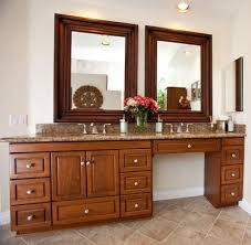 The idea about bathroom vanity is being connected to the sink and the mirror. 78in Makeup Sink Vanity Custom Makeup Vanity Solid Wood Bathroom Cabinets