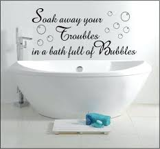 White Wall Decals Quotes Bathroom Bathroom Quotes Decals For Kids ...