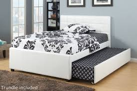 White Wood Full Size Bed - Steal-A-Sofa Furniture Outlet Los Angeles CA