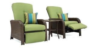 outdoor recliner sawyer patio set includes 2 recliners and side table cilantro green covers outdoor recliner