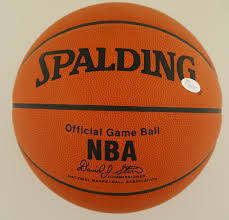 wilt chamberlain autographed genuine leather nba game basketball