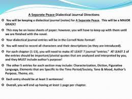a separate peace bildungsr ms hammond a separate peace journals