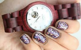 Polish Pals: JORD Wooden Watch Review + Pink Shattered Glass Nails