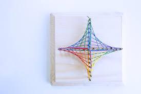 Math Art Idea Explore Geometry Through String Art Babble