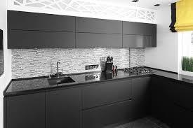 contemporary kitchen matte black with black shiny quartz amazing cabinetry mission viejo