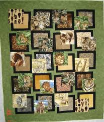 Easy Big Block Quilt Patterns Free Easy Big Block Quilts So Big ... & Bq Pattern With African Animals I Am Planning To Make A Similar One With  Forest A Easy Big Block Quilts ... Adamdwight.com